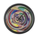 Spinning Colors Abstract Large Wall Clock