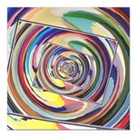Spinning Colors Abstract Square Car Magnet 3