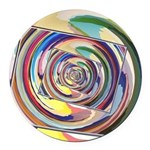 Spinning Colors Abstract Round Car Magnet