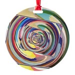 Spinning Colors Abstract Ornament