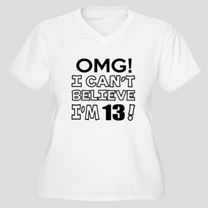 Omg I Can Not Bel Women's Plus Size V-Neck T-Shirt