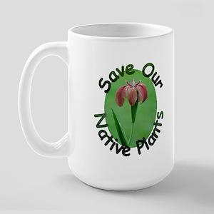 Save Native Plants LA Iris Large Mug