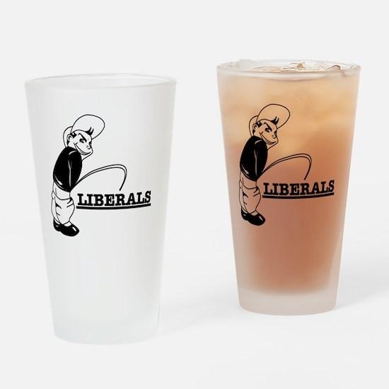 Anti Liberal designs Drinking Glass