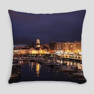Ponta Delgada at night Everyday Pillow