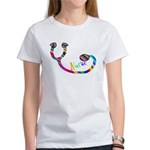NURSE Gay Rainbow Stethoscope HUGE T-Shirt