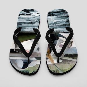 Beached Wrecks Flip Flops