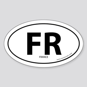 France country bumper sticker -White (Oval)
