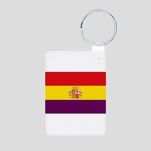 Flag of the Spanish Republic - Bandera T Keychains