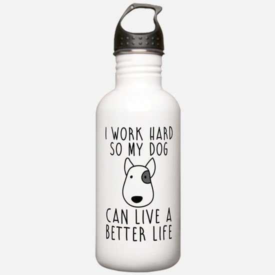 I work hard... Sports Water Bottle