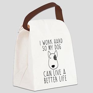 I work hard... Canvas Lunch Bag