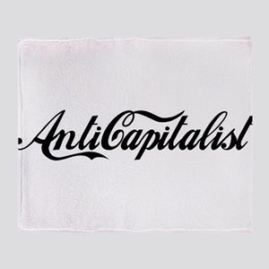 Anti Capitalist Throw Blanket