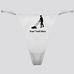 Lawn Mowing Silhouette Classic Thong