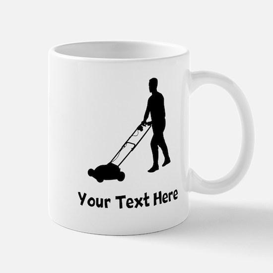 Lawn Mowing Silhouette Mugs