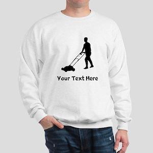 Lawn Mowing Silhouette Sweatshirt