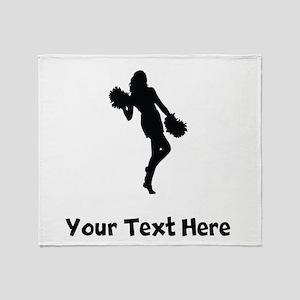 Cheerleader Silhouette Throw Blanket