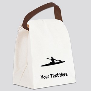 Kayaker Silhouette Canvas Lunch Bag