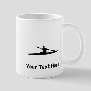 Kayaker Silhouette Mugs