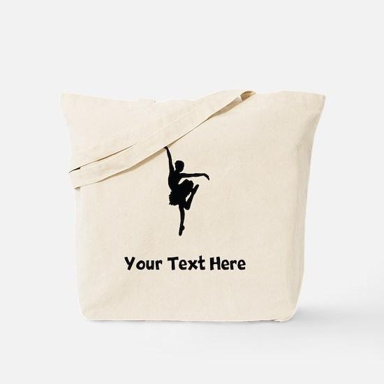 Ballerina Silhouette Tote Bag