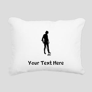 Coinshooter Silhouette Rectangular Canvas Pillow