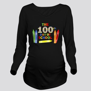 100th day of school Long Sleeve Maternity T-Shirt