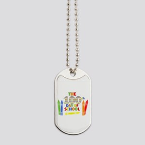 100th day of school Dog Tags