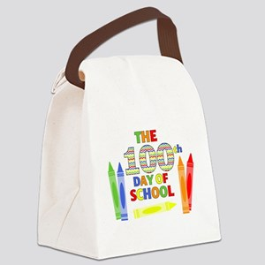 100th day of school Canvas Lunch Bag