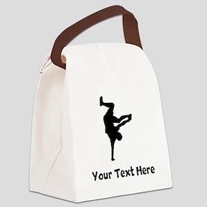 Breakdancer Silhouette Canvas Lunch Bag