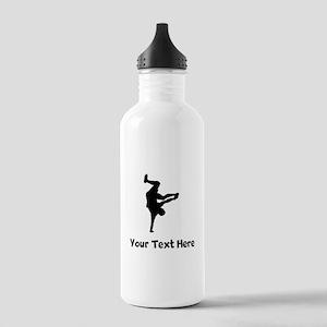 Breakdancer Silhouette Water Bottle