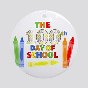 100th day of school Round Ornament
