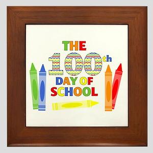 100th day of school Framed Tile