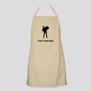 Accordion Player Silhouette Apron