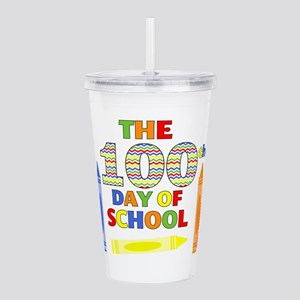 100th day of school Acrylic Double-wall Tumbler