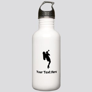Trumpet Player Silhouette Water Bottle