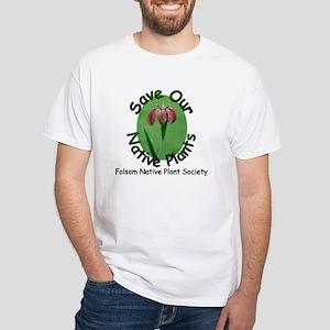 FNPS Save Native Plants LA Iris White T-Shirt