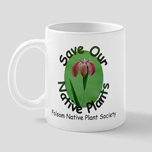 FNPS Save Native Plants LA Iris Mug
