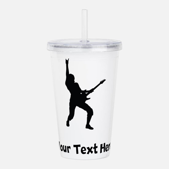 Rock Star Silhouette Acrylic Double-wall Tumbler