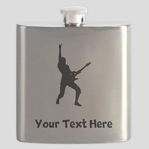 Rock Star Silhouette Flask
