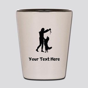Dog Trainer Silhouette Shot Glass