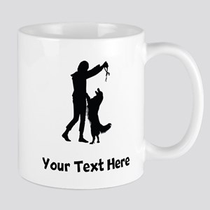 Dog Trainer Silhouette Mugs