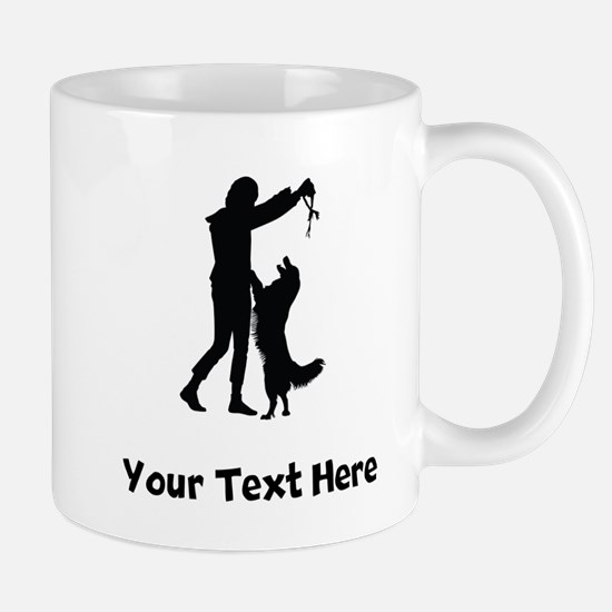 Dog Trainer Silhouette Mugs