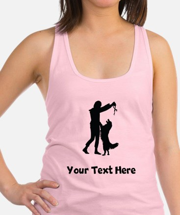 Dog Trainer Silhouette Racerback Tank Top