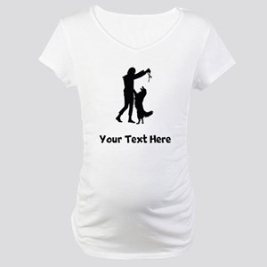 Dog Trainer Silhouette Maternity T-Shirt