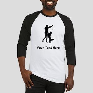 Dog Trainer Silhouette Baseball Jersey