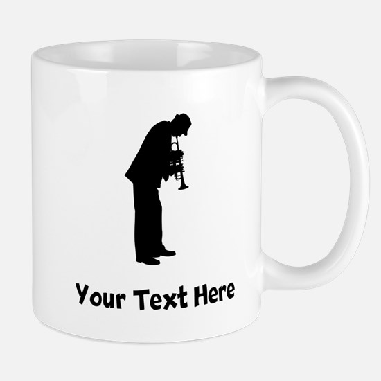 Trumpet Player Silhouette Mugs