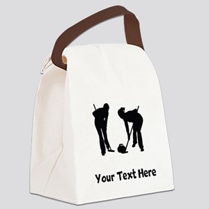 Curlers Silhouette Canvas Lunch Bag