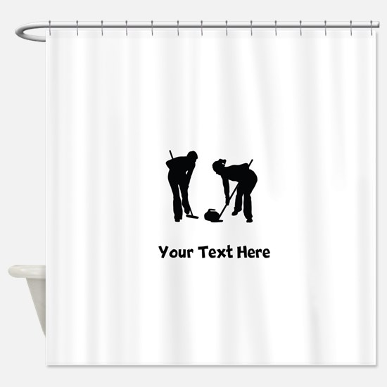 Curlers Silhouette Shower Curtain