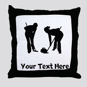 Curlers Silhouette Throw Pillow