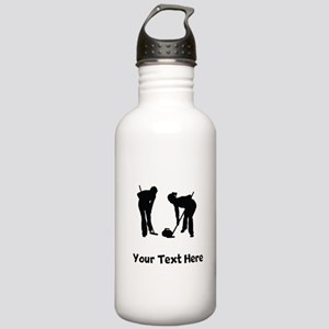 Curlers Silhouette Water Bottle