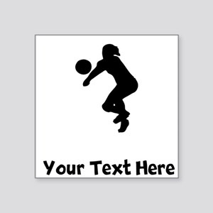 Volleyball Player Silhouette Sticker