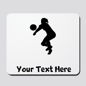 Volleyball Player Silhouette Mousepad
